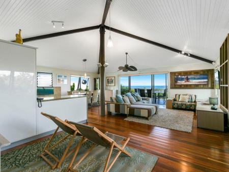 open plan living to ocean views